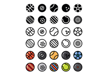 Set of Sport Ball Vectors - vector gratuit #378439