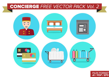Concierge Free Vector Pack Vol. 2 - vector gratuit #378449