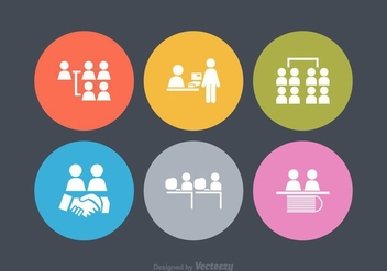 Free Vector Working Together Icons - vector gratuit #378459