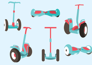 Various Segway Vector - бесплатный vector #378489
