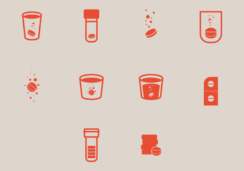 Simple Effervescent Icon Vectors - vector gratuit #378599