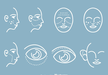 Cosmetic Plastic Surgery Icons - vector #378639 gratis