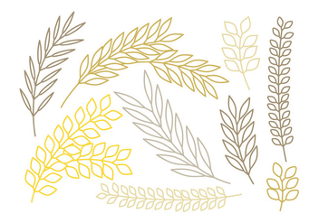 Vector Outlined Branches Set - vector gratuit #378729