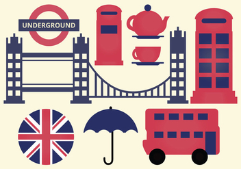 Vector London Elements - vector gratuit #378759