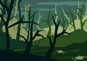 Swamp Illustration Vector - бесплатный vector #378809