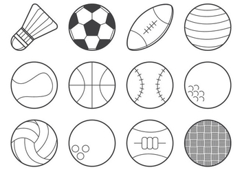 Free Sports Ball Icon Vector - Kostenloses vector #378839