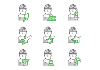 Free Bricklayer Vector - Free vector #378879
