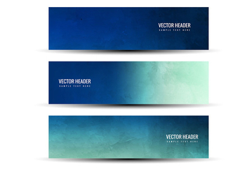 Free Vector Blue Green Abstract Headers - бесплатный vector #378899