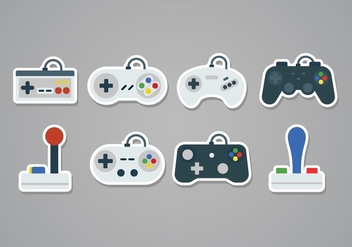 Free Gaming Joystick Sticker Icons - vector gratuit #378909