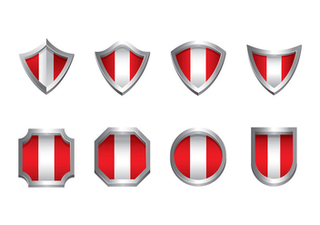 PERU FLAG ICON VECTOR - Free vector #378969