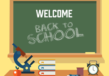 Free Back to School Vector Illustration - Kostenloses vector #379029