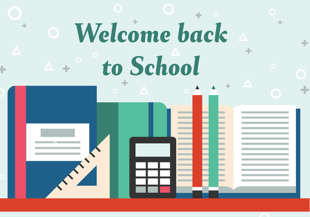 Free Back to School Vector Illustration - vector gratuit #379079