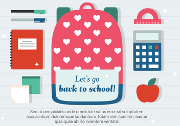 Free Back to School Vector Illustration - бесплатный vector #379159