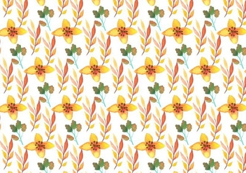 Free Vector Watercolor Floral Background - Free vector #379179