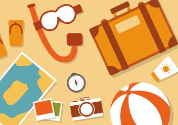 Free Flat Travel Vector Illustration - бесплатный vector #379259