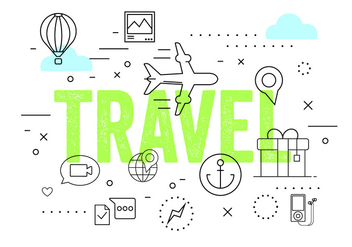 Travel Vector Elements - vector gratuit #379389