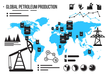 Oil Field Vector Infographics - vector gratuit #379409