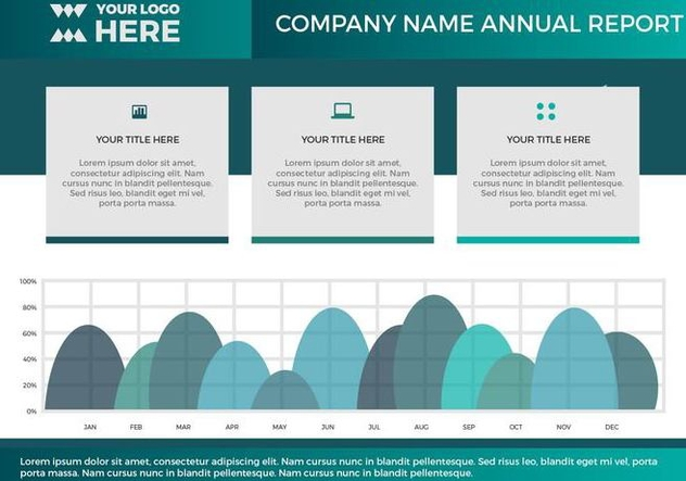 Free Annual Report Vector Presentation 16 - Free vector #379429