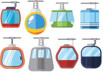 Free cable car icons vector - vector gratuit #379479