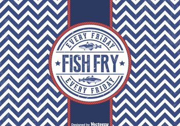 Free Vector Friday Fish Fry Badge - Kostenloses vector #379509
