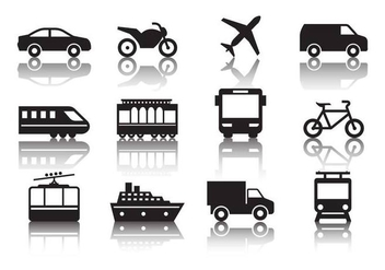 Free Transportation Icons Vector - бесплатный vector #379539