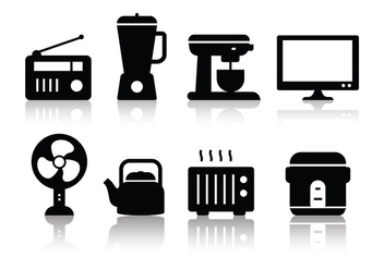 Free Minimalist Home Appliances Icon Set - Free vector #379549
