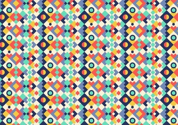 Colorful Geometric Pattern - vector gratuit #379559