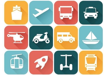 Free Transportation Icons Vector - Free vector #379589