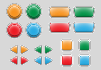 Free Arcade Game Button - vector #379649 gratis