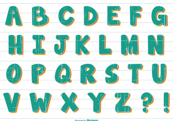 Fun Comic Style Vector Alphabet - Kostenloses vector #379749