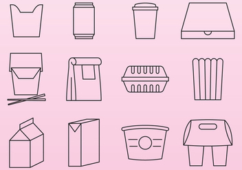Food Pack Icons - vector #379769 gratis