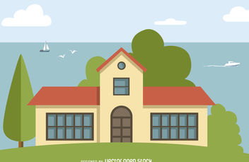 Big house illustration - vector gratuit #379799