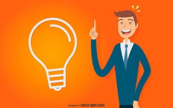 Idea man drawing - vector #380019 gratis