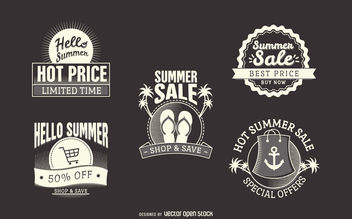 Hipster summer sale labels - vector gratuit #380029