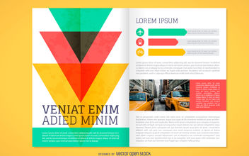 Colorful brochure mockup - vector gratuit #380059