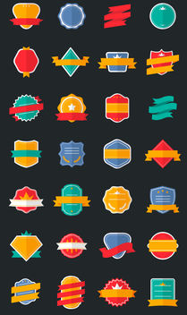 Flat logo label collection - vector gratuit #380129