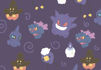 Ghost Type Pokemon - vector gratuit #380209