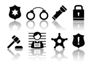 Free Minimalist Police and Crime Icons - vector gratuit #380219