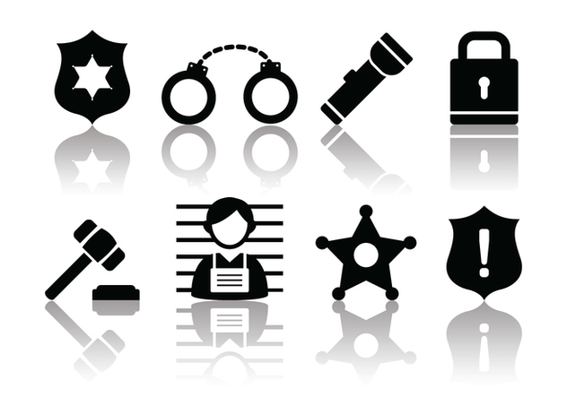 Free Minimalist Police and Crime Icons - бесплатный vector #380219