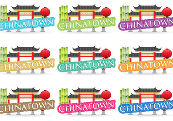 Chinatown Titles - бесплатный vector #380289