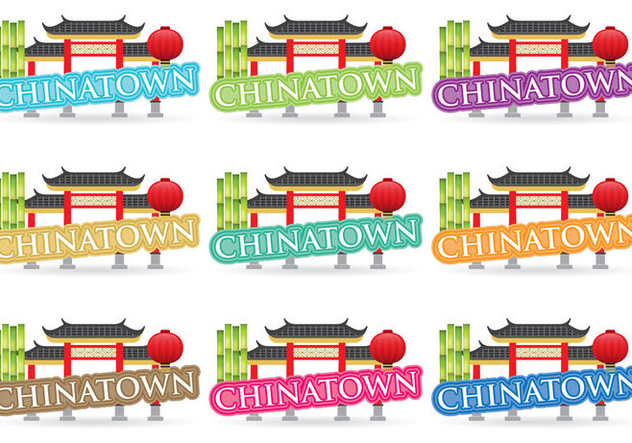Chinatown Titles - Free vector #380289