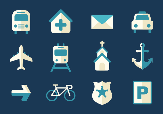 Free Transportation and Sign Icons Vector - Kostenloses vector #380419