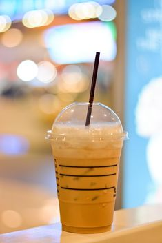 Coffee with ice in plastic cup - бесплатный image #380509