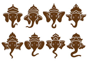 Brown Ganesh Icons - Free vector #380519