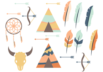 Tipi and Feather Vector Icon - Free vector #380559