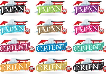 Japan Titles - vector gratuit #380579