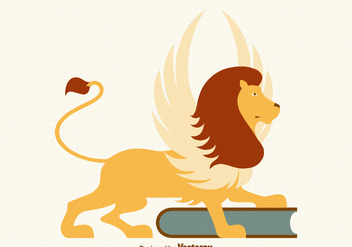 Free Vector Winged Lion - бесплатный vector #380679