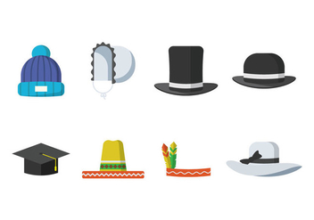 Free Hats Vector - Free vector #380719