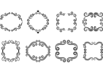 Set Of Scrollwork Cartouche Vector - Free vector #380729