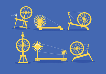 Spinning Wheel Vector - vector gratuit #380739